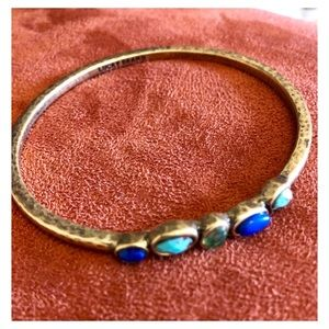 Brush Gold Bangle Lucky Bracelet